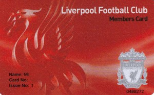 Official Liverpool FC Membership Card